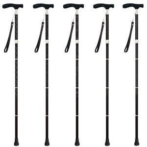 グランドカイノス 伸縮折りたたみ杖男性用 長さ79~89身長約150~170cm