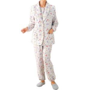 婦人パジャマ中わたベストつきパジャマ2セット