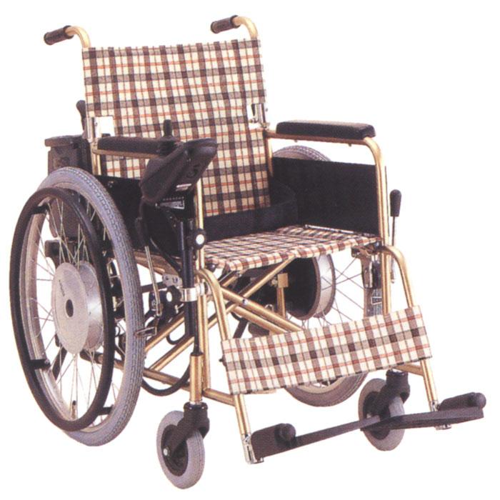 チタン製自走用電動ユニット付車椅子KT22-40N/PU10M-2の通販・販売店