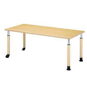 介護・福祉施設用テーブル ラチェットタイプ4R 角型 片側キャスター 4R-1690K-C