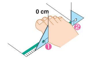 足幅を測る