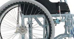車椅子のドラム式介助ブレーキ