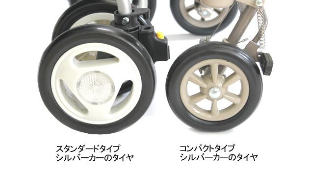 コンパクトとスタンダードタイプのタイヤの違い