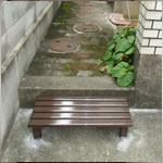 段差解消・屋外用踏み段の取付工事