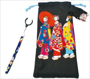 和柄ストラップ+舞子ちゃん 折りたたみ杖用袋セット