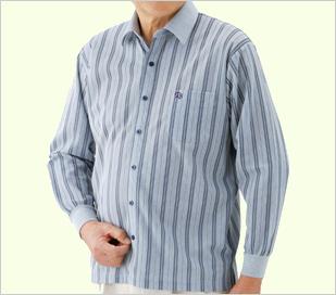 長袖ワンタッチテープシャツ飾りボタン