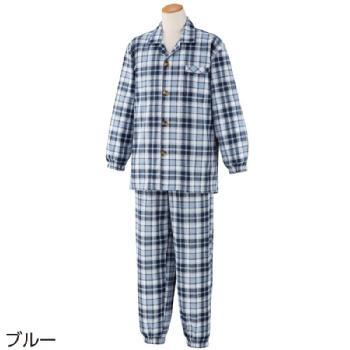 紳士大きめボタンサッカーパジャマ 春夏用 2枚セット 89616