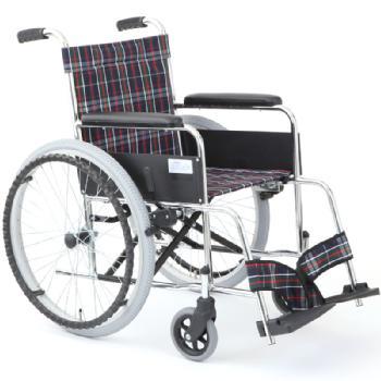 スチール製自走用車椅子 リーズ MW-22STN ノーパンクタイヤ