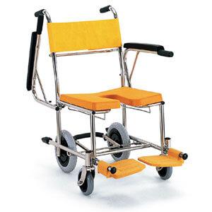 入浴・シャワー用車いすKS4 穴あきシート シャワーキャリー(入浴用車椅子) カワムラサイクル