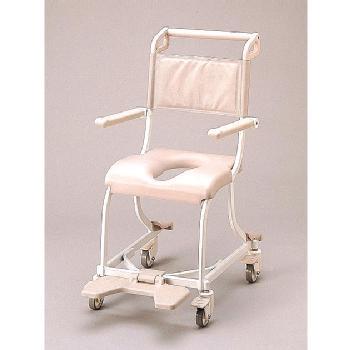 TOTO 水まわり用四輪キャスター車いす(ソフト小穴シート)EWCS609 水回り用(トイレ・お風呂)車椅子