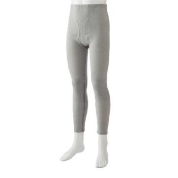 紳士 裾ファスナー付きタイツ 2枚組 01917 腰・膝に遠赤外線加工の当て布付き