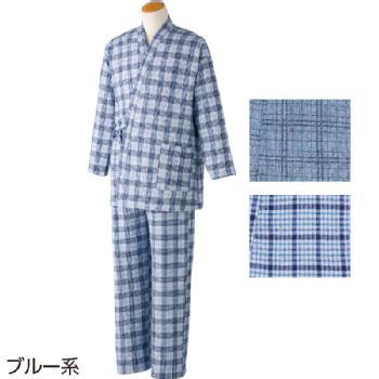 紳士 キルト打合わせパジャマ 秋冬M・Lサイズ 89814