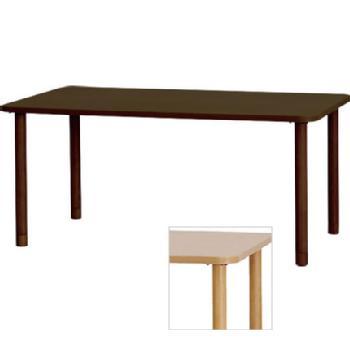 車いす対応メラミン化粧板テーブル TM3-K16590 選べる脚タイプ 4人掛けワイド 長方形 施設・病院向けダイニングテーブル