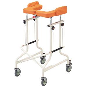 アルコーCG-T型 折りたたみ歩行器 抵抗器・肘ずれ落ち防止パッド付き|車輪付歩行器-室内用|介護用品の通販・販売店【品揃え日本最大級】-  快適空間スクリオ