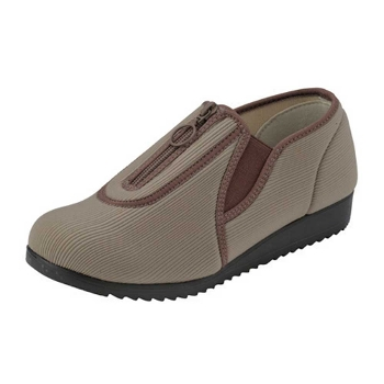 エルダーRE863 甲部ファスナータイプ 屋外用介護靴 両足販売 婦人