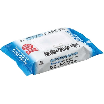 HPワンミニッツバスター ウェットクロス30P 1ケース(30袋入り) 感染防止対策