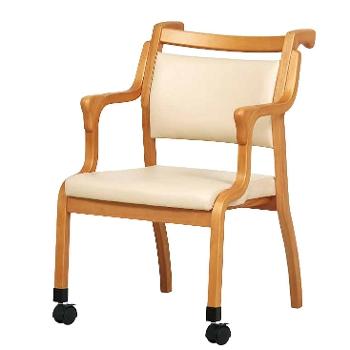 前脚キャスター・ハンドル付きチェアらくおす2脚セット Care-115-AC 介護・福祉施設向け椅子