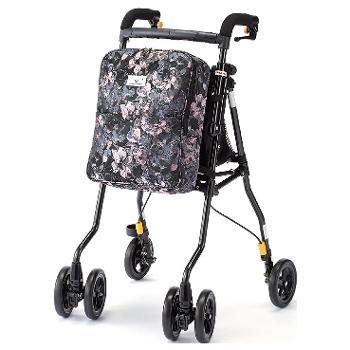 【歳末キャンペーン】ヘルシーワンW カラー・フロール シルバーカータイプの歩行車