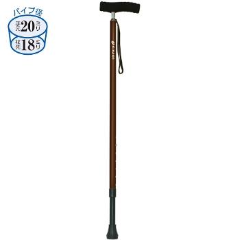 シナノ ソフトグリップ伸縮杖 カイノスSOFT-GA長さ75~90cm身長約145~175cm