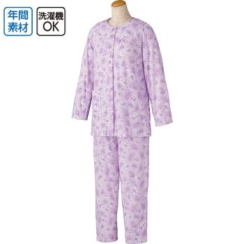 婦人介護パジャマ ワンタッチテープ+腰開きパジャマ 通年 2枚セット 98092