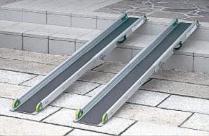 ワンタッチスロープ 屋外用段差解消スロープ対応段差高さ:約10?40cm