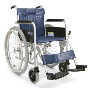 スチール製自走用車椅子 KR801Nエアタイヤ 座幅42cm 病院・施設