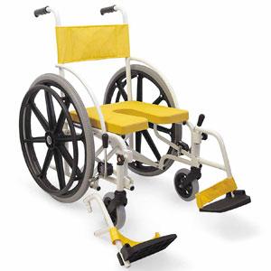 シャワー用車椅子 自走用・折りたたみ式 脚部脱着式シャワーキャリー KS7 U字 カワムラサイクル