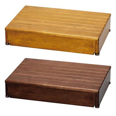 安寿 木製玄関台 1段タイプ 60W-40-1段