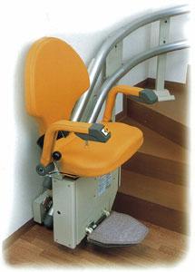 階段昇降機-いす式 自由生活曲線型