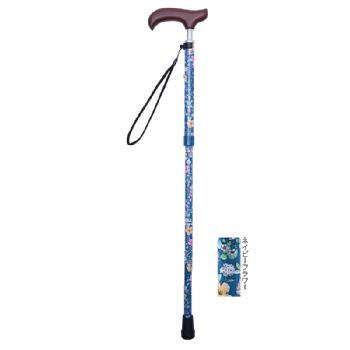 ウェルファン 夢ライフステッキスリムネック 折りたたみスリムタイプ柄 長さ73.5~83.5cm 身長約140~160cm