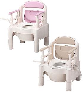 アロン化成・安寿 ポータブルトイレちびくまくんFX-CP暖房便座 防臭消耗品付き