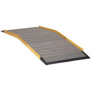 段ない・ス ロールタイプスロープ 60cm 段差解消屋外用スロープ・渡し板 対応段差高さ:約16cmまで