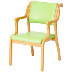 手すり付きダイニングチェア AC-S104-IN 介護・福祉施設・高齢者施設向け椅子