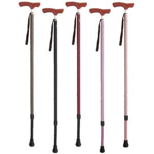 伸縮杖 シナノ カイノス和彩細首タイプ 対応身長 ショート:136〜166cm、ロング:150〜180cm