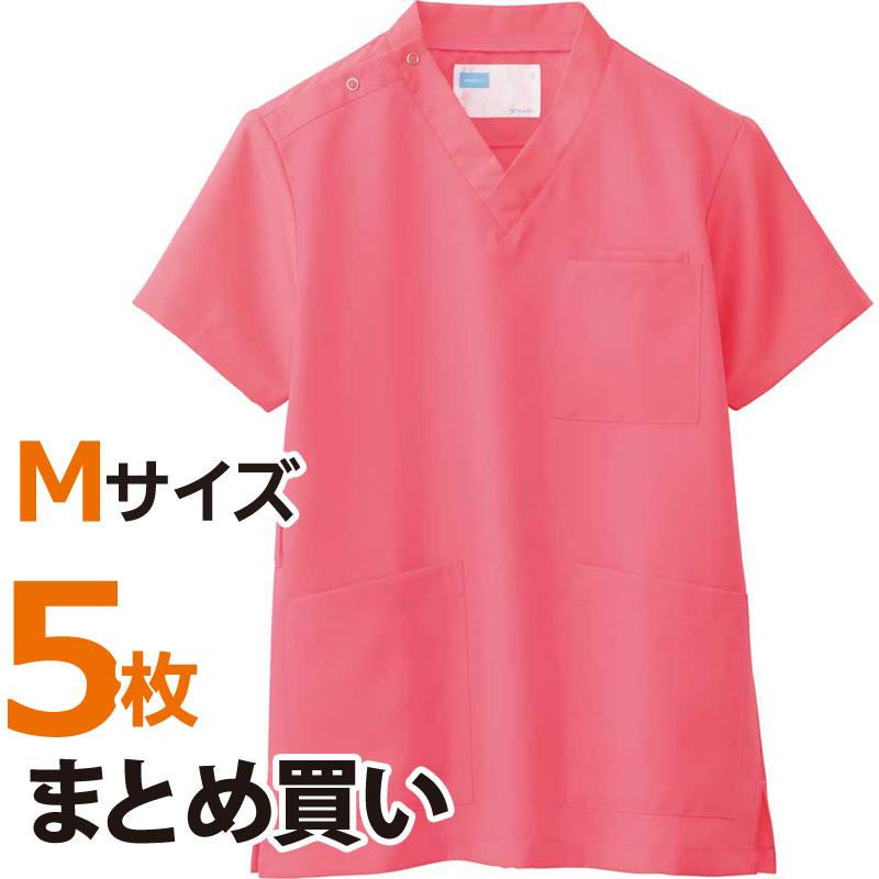 介護施設ユニフォーム 男女兼用スクラブ WH11485A トップス Mサイズ 5枚まとめ買いセット