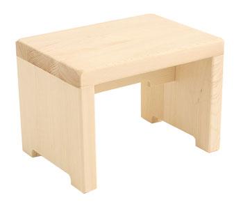 木製腰掛け・風呂椅子(角形)