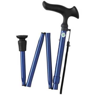 ステッキかるがもE 無地 折畳S 細首タイプ 伸縮折りたたみ杖 対応身長約140~162cm
