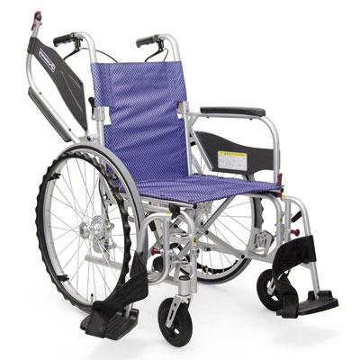 カワムラサイクル 軽量 自走用車椅子 ふわりす+(プラス) KFP22-40SB