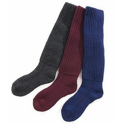 ふかふか暖か2重編みルームソックス 選べるカラー2足組