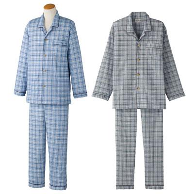 紳士ワンタッチパジャマ 通年介護パジャマ S~LLサイズ2枚セット 89294