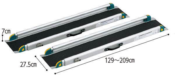 ワンタッチスロープ 屋外用段差解消スロープ対応段差高さ:約10〜40cm