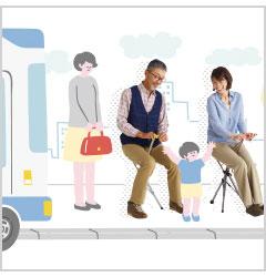 バス停での待ち時間