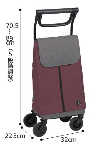 aカート ショッピング WCC09 横押しカート・ステッキカートのサイズ