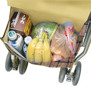 歩行車シンフォニーSPはバッグ付きです。