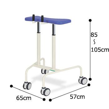 歩行ヘルパー TB-1184 施設向け車輪付歩行器 のサイズ