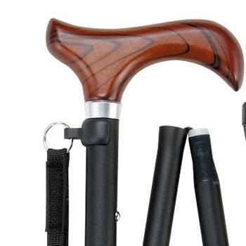 充実ステッキ 折りたたみ杖 FS-10 収納袋つき 長さ74.5〜82cm 身長約145〜160cmの説明