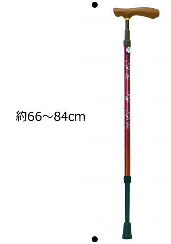 クォーターポイントGS 伸縮杖細首タイプの寸法図