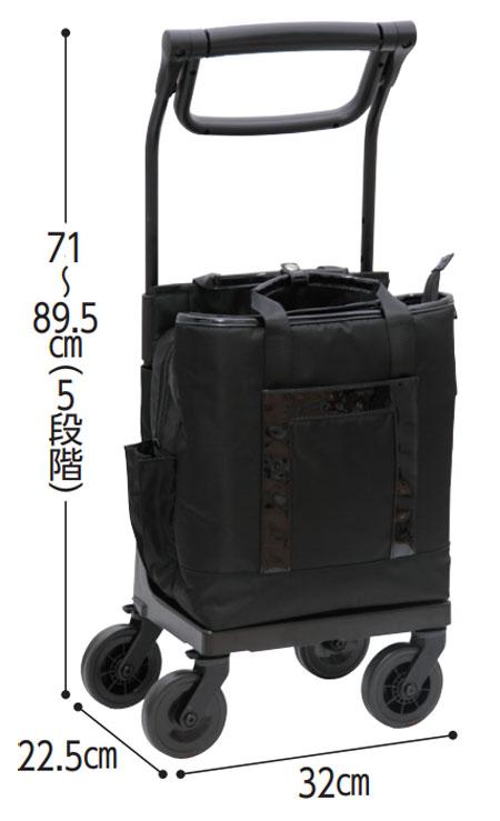 TacaoFテイコブ aカート レフィノ WCC11 横押しキャリーカートの寸法図