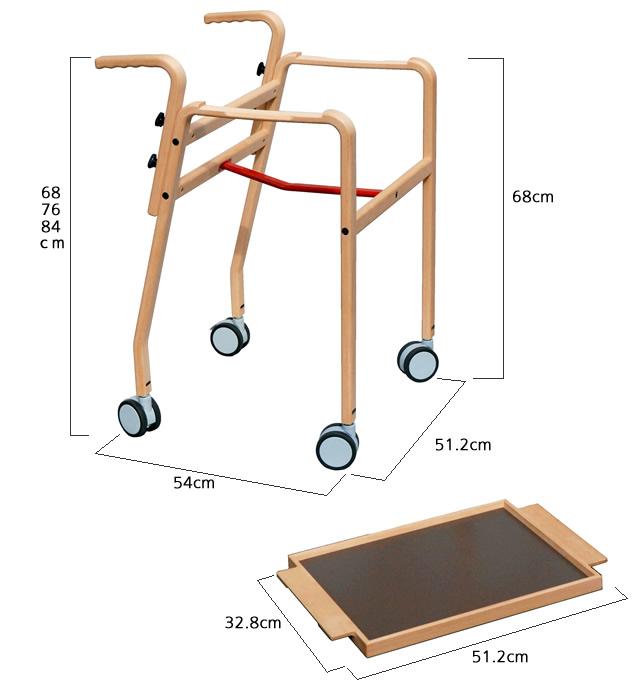 ポーター(porter) 屋内専用歩行器の寸法