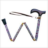 夢ライフステッキ 柄折りたたみ伸縮杖の説明